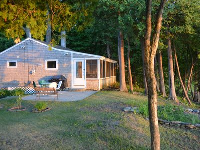 Photo for Sunset views and Private Beach on Lake Champlain, with dock and boat mooring.