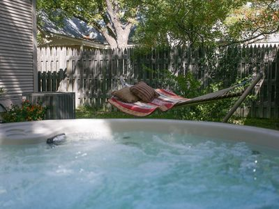 Photo for Absolutely Charming Chocolate Diamond hot tub and pet friendly!