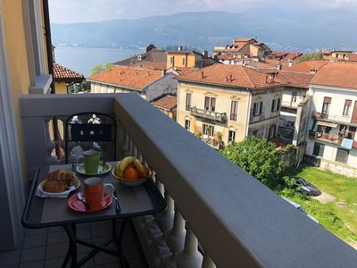 Photo for Milly apartment in the center of Verbania Pallanza with balcony and lakeview