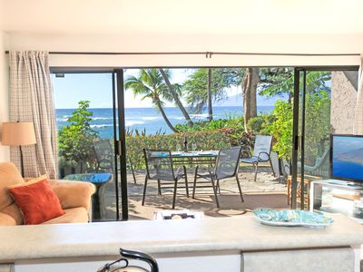 Photo for Summer Specials! Ground Floor End Unit And Ocean Front!! Come to Maui!