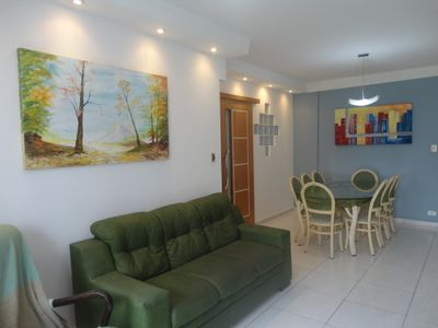 Photo for Apt of 90 m2 - Wifi, air conditioned, screened - close to everything between Asturias and Tombo