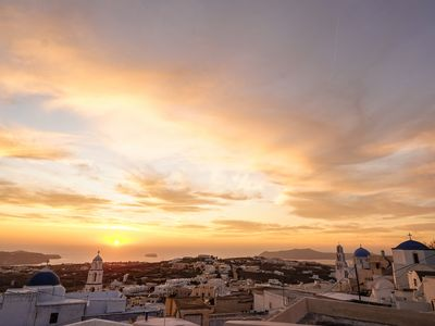 Photo for Private luxurious villa in Pyrgos Santorini traditional settlement