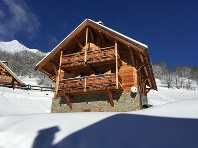 Photo for Beautiful Traditional Wooden Detached 4 bedroom Luxury Chalet In Prime location