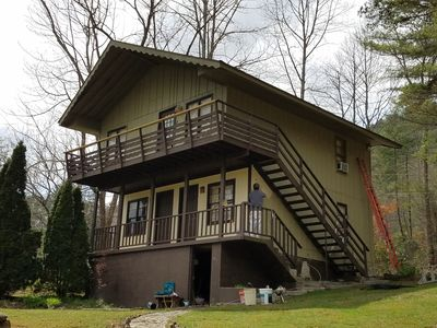 Photo for Get away to the Mountains in this Cozy Chalet.  Clean and Quiet