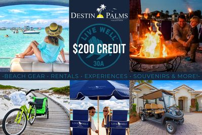 Destin 2 Stay - $200 Live Well Credit w/ Stay
