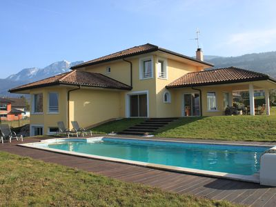 Photo for Beautiful house near Evian overlooking Lake Geneva and the Alps