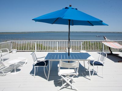 Photo for Dune Road waterfront 3 bedroom 2 bath private walkover to beach