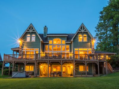 Photo for Lakefront Chalet w/ Private Indoor Pool, 2 Hot Tubs & Pool Table!