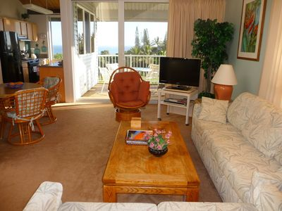 See the ocean from the comfort of the living room couch or loveseat.