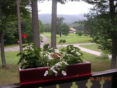 View from living room/balcony looking onto the golf course