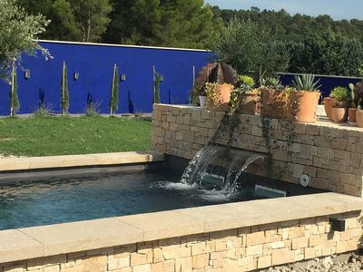 Photo for casa Azul in provence villa + pool middle of the provencal countryside