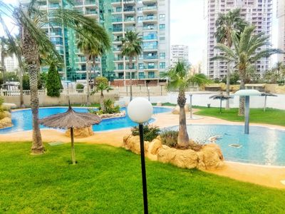 Photo for Modern apartment with views and garage 100m from the beach