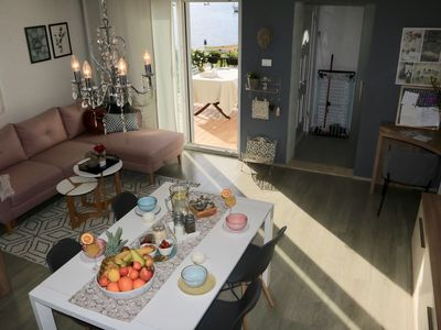 Photo for One-Bedroom Apartment with Terrace and Sea View