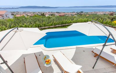 Photo for Villa SEA VIEW**** Private heated pool outside jacuzzi,gym,amazing sea view