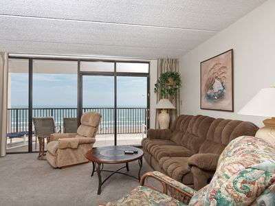 Photo for 708 Relax at your spacious beautiful gulf front condo and leave your c