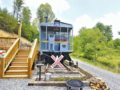 Photo for Sleep in a caboose on a 65 acre buffalo ranch!