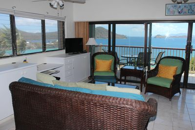 View of St John and BVI from most every room, including bedroom when you awaken!