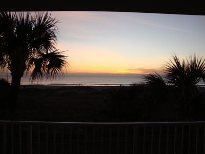 Actual view of the Sunrise from the Private Balcony!!!