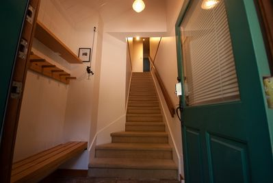Entry - Mud room and entry stairs