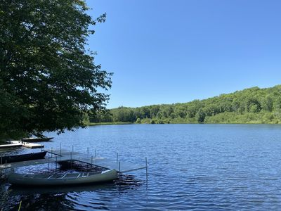 Photo for Pocono Mountain Cottage on Private 10 acre lake & 100 acre grounds