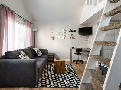 Photo for Walk to the Beach from a Charming Loft Cottage
