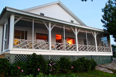 Front porch overlooking the River