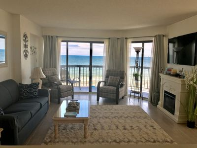 Photo for Oceanfront corner condo in quiet building, close to many attractions