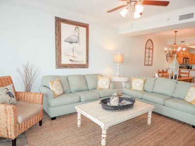 Photo for Two Bedroom/Two Bath Gulf Front Condo with 2 Pools and Tennis Court