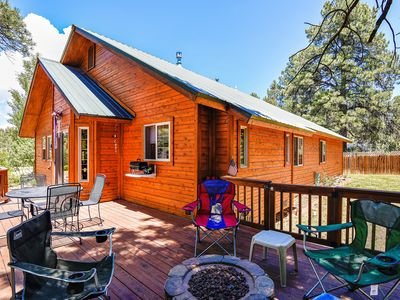Photo for NEW LISTING! Bright & sunny cabin w/ furnished deck - one block from the lake!