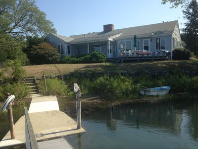 Photo for Private Sunlit Waterfront Retreat--3 BR 3 Bath with dock, decks, gorgeous views