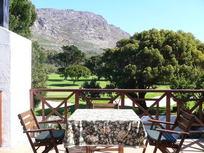 Photo for Self-catering apartment with balcony, overlooking golf course and mountains