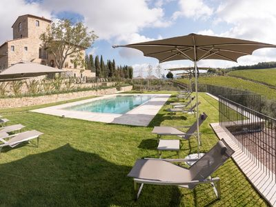 Photo for Villa Torre Greve - Wonderful with panoramic pool in Chianti