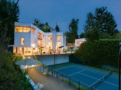 Photo for Amazing Hollywood Compound With Pool, Tennis Court and City and Canyon Views