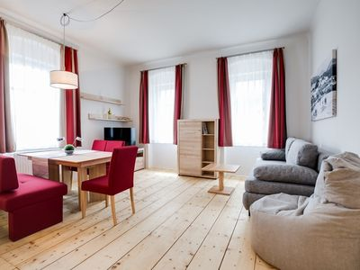 Photo for Relaxed vacation in the historic center of Mitterbach - 60 m2 apartment with box spring beds