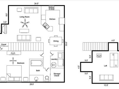 1,080 Square Feet of Living Space!
