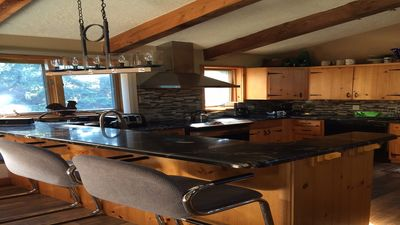 Photo for Renovated 3 BR Chalet, Heated Pool, Hot Tub, View, Short Walk To Village/Hill