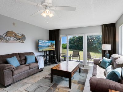 Photo for Updated Ground Floor Condo - Right on the Beach - Family & Pet Friendly