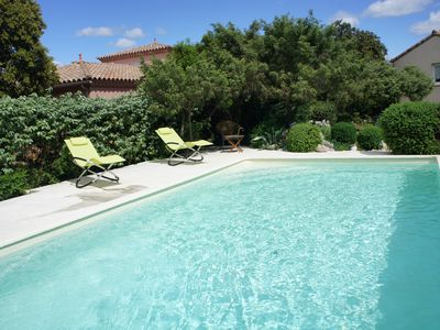Photo for Nearly GARD NIMES UZES Rental and Studio with pool for 2 people. to POULX