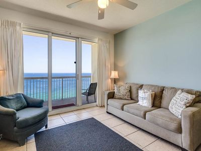 Photo for Beachy Vacation Rental,  Gulf-front balcony, On-site hot tub and pool, On the beach