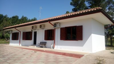 Photo for Superb detached villa in Porto Pino, just 2 minutes from the beach!