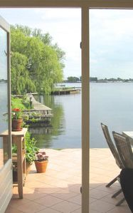 Photo for Comfortable lakeside apartment near Amsterdam
