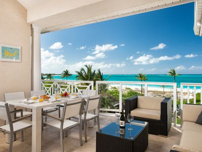 Photo for 3 Bedroom Beachfront Grandview Penthouse On Grace Bay Beach