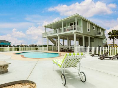 Photo for NEW LISTING! Home overlooking wetlands w/ private pool - 1/2 mile to beach