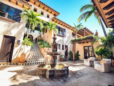 Photo for Gated Mexican Hacienda Villa,  7 Bedrooms,  Ocean View, Marina, Golf and more!