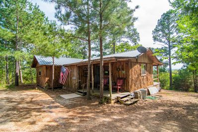 Cabin under the tall pines with great views