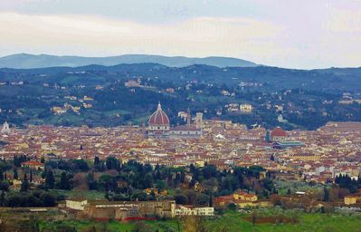 The view of the historical center of Florence