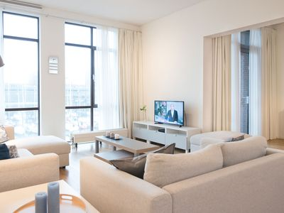 Photo for Luxurious apartment with view of the harbour of Scheveningen