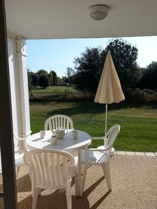 Photo for Quiet apartment 5 pers. golf course views and countryside, near the sea
