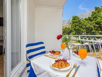 Photo for Studio flat with terrace Lokva Rogoznica, Omiš (AS-2973-a)