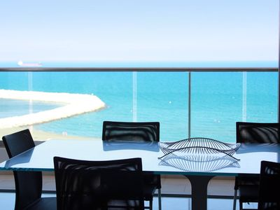 Photo for 2b Delux Seafront Apartment - Finikoudes